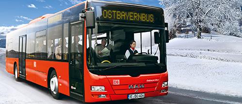 Winterfoto Buslinien Landkreis Regen. Foto: © DB AG