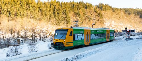 Winterfoto Waldbahn Linien im Landkreis Regen. Foto: © Klaus-Dieter Neumann Fotografie
