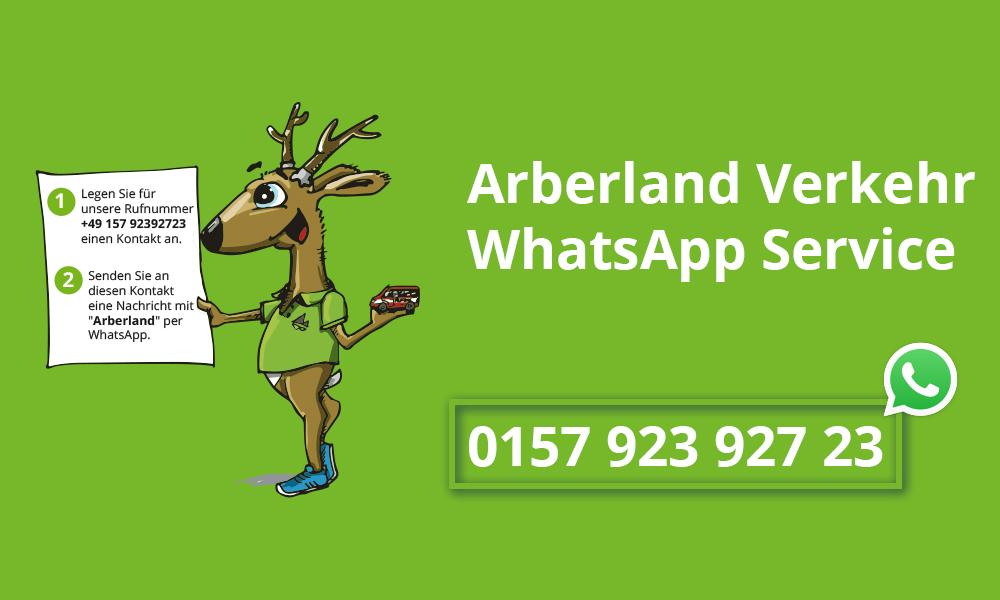 Der WhatsApp Service von Arberland Verkehr. Jetzt testen!