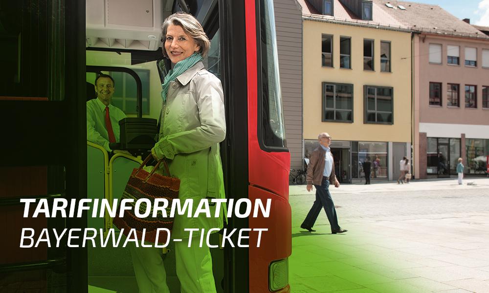 Tarifinformation Bayerwald-Ticket. Foto: © DB AG