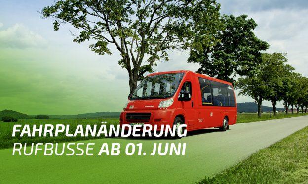 Hinweis Fahrplanänderung Rufbusse. Foto: © DB AG