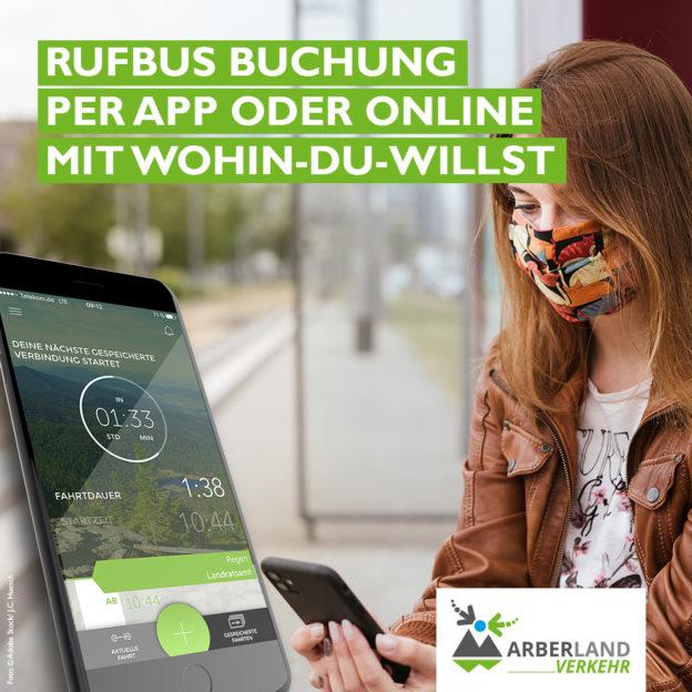 Rufbus Buchung per App oder Online mit Wohin-Du-Willst.