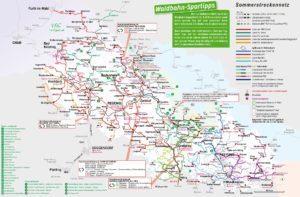 Bayerwaldticket Streckennetz Sommer 2021